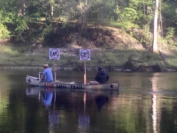 #NoDAPL #NoSabalTrail canoe