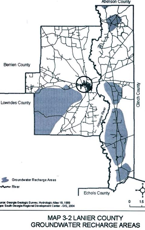 Lanier County Groundwater Recharge Areas