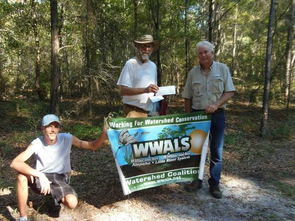 600x450 Alapaha River Water Trail Committee Chair Chris Graham, Chris Mericle, TDC  check, WWALS president John S. Quarterman 2014-10-26, in TDC support letter for Alapaha River Water Trail, by Gretchen Quarterman, for WWALS.net, 19 November 2014