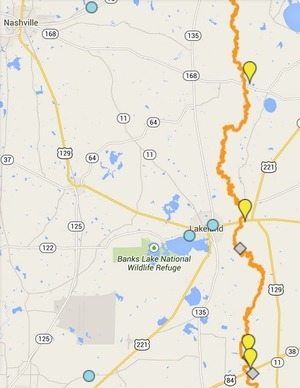 300x388 ARWT Central, in Alapaha River Water Trail draft map, by John S. Quarterman, for WWALS.net, 8 December 2014
