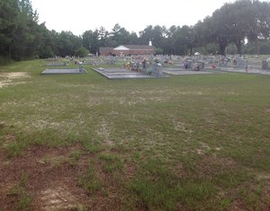 300x235 View of the church and cemetery from the top of the road leading to the river., in Alapaha River access at Riverside Church, by Bret Wagenhorst, 14 September 2014
