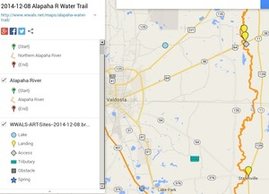 300x217 ARWT South Legend, in Alapaha River Water Trail draft map, by John S. Quarterman, for WWALS.net, 8 December 2014
