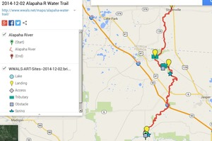 300x199 ARWT FL Legend, in Alapaha River Water Trail draft map, by John S. Quarterman, for WWALS.net, 2 December 2014