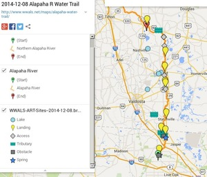 300x257 ARWT Legend, in Alapaha River Water Trail draft map, by John S. Quarterman, for WWALS.net, 8 December 2014