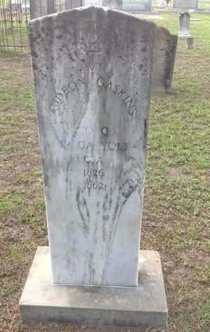 300x474 A Confederate soldier is buried in the cemetery., in Alapaha River access at Riverside Church, by Bret Wagenhorst, 14 September 2014