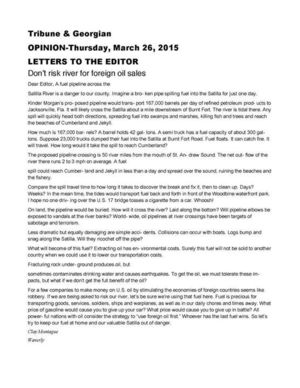 300x388 Letter image, in Don't risk river for foreign oil sales, by Clay Montague, for WWALS.net, 26 March 2015