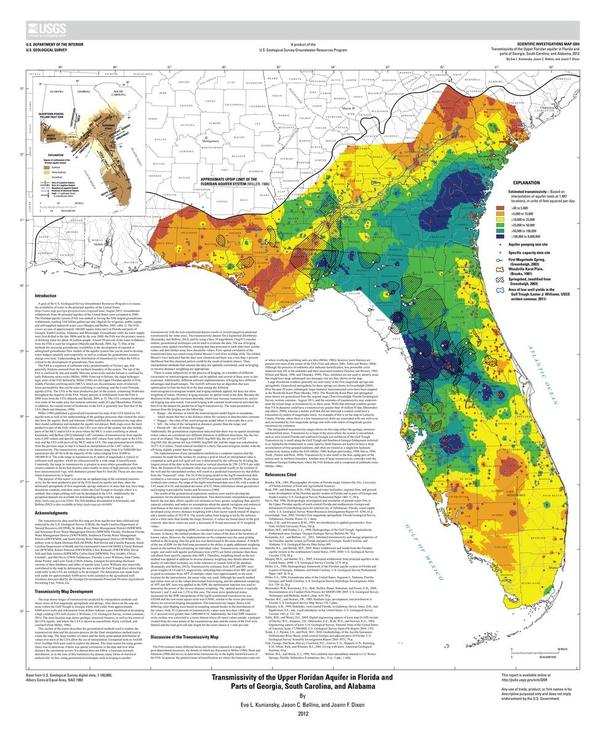 600x738 Transmissivity of the Upper Floridan Aquifer in Florida and Parts of Georgia, South Carolina, and Alabama --USGS Map 3204 2012-04-19, in Wwals leesburg, by John S. Quarterman, for WWALS.net, 13 April 2015