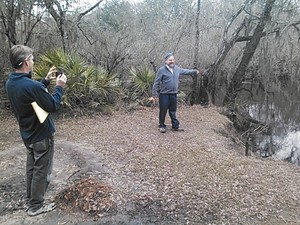 300x225 Dan Chapman and Don Thieme at Cherry Creek Sink, in Sinkholes near the Withlacoochee River, by John S. Quarterman, for WWALS.net, 18 February 2015