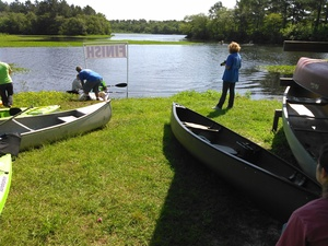 300x225 Landing, in BIG Little River Paddle Race, by John S. Quarterman, for WWALS.net, 16 May 2015