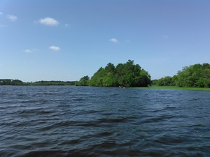 300x225 Across the lake, in BIG Little River Paddle Race, by John S. Quarterman, for WWALS.net, 16 May 2015