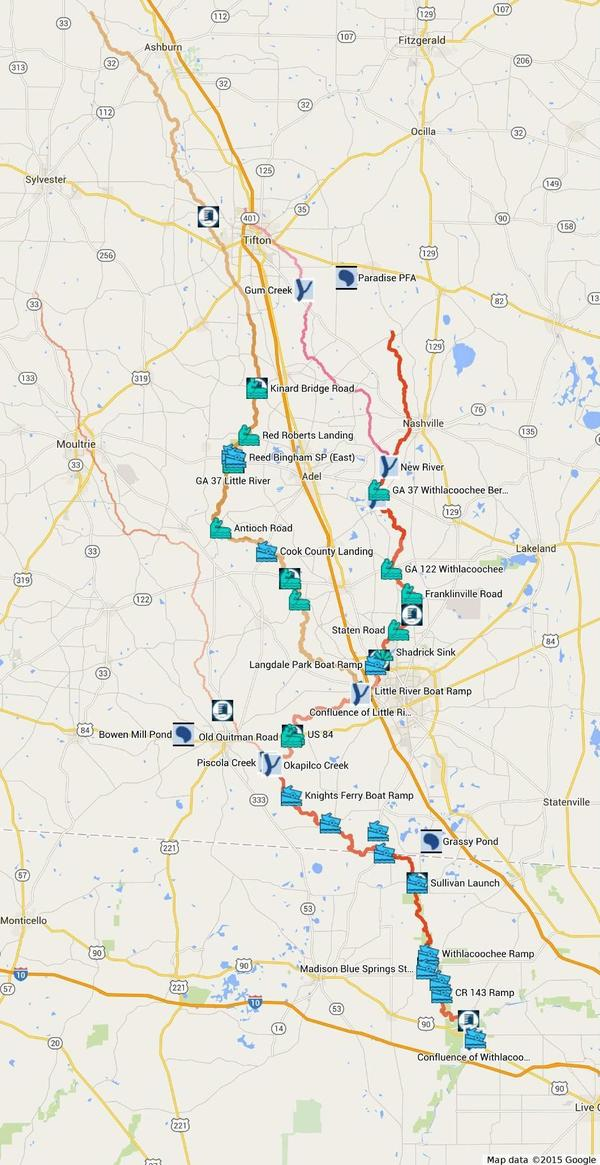 600x1165 Withlacoochee River and tributaries, in Withlacoochee River Water Trail, by John S. Quarterman, for WWALS.net, 4 May 2015