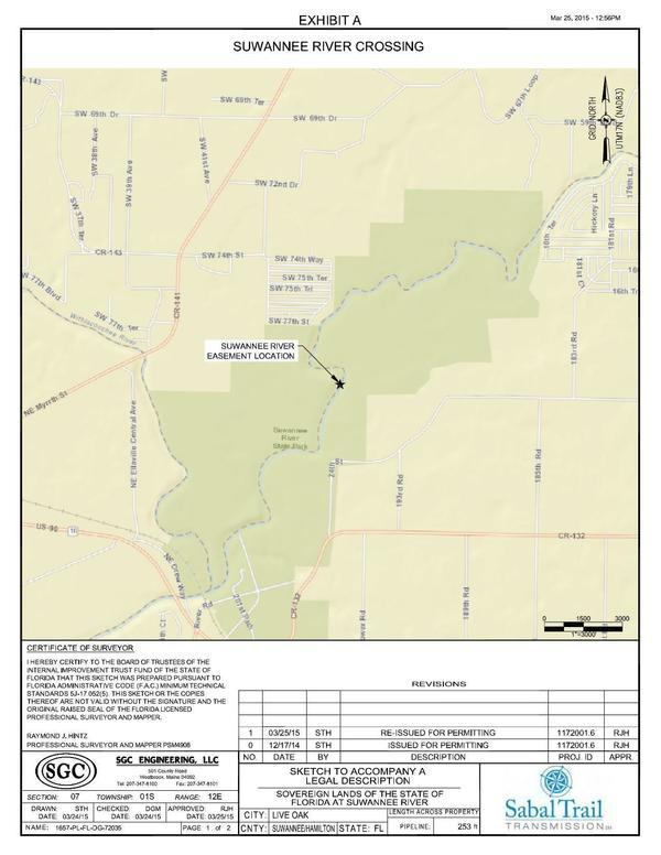600x776 Location map, in Suwannee River crossing, by Sabal Trail Transmission, for WWALS.net, 10 July 2015