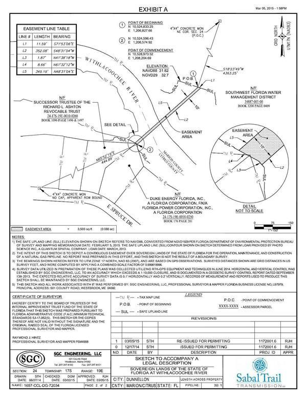 600x776 Crossing Sketch, Sovereign Lands of the State of Florida, in Withlacoochee (Green Swamp) River Crossing, by Sabal Trail Transmission, for WWALS.net, 10 July 2015