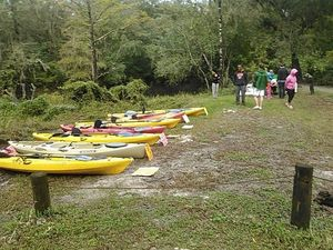 Kayaks and students 30.8867588, -83.3232040