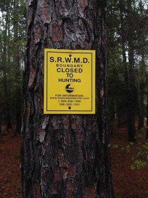 SRWMD Closed to Hunting