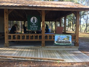 Sabal Trail pipeline meeting pavilion at SRSP