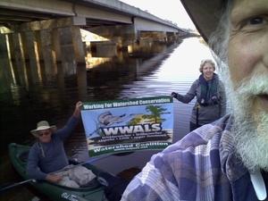 Banner selfie with Dan Coleman and Shirley Kokidko, GA 135 31.3036118, -83.0529327