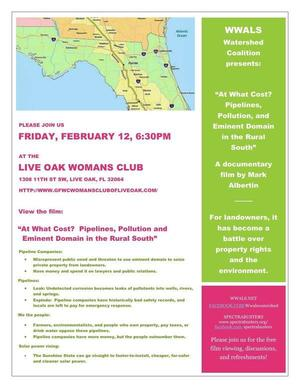 6:30 PM Friday 12 Feb 2016, Live Oak, FL