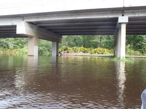 Under the GA 122 bridge