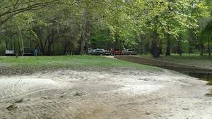 Cars at boat ramp, Langdale Park 30.8876972, -83.3238907