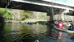 Downstream under the Staten Road Bridge