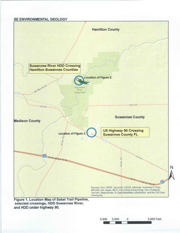 Figure 1. Location Map of Sabal Trail Pipeline