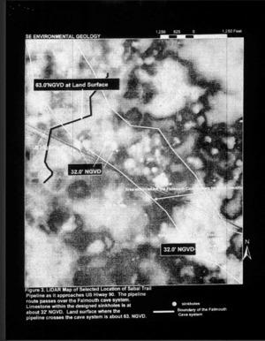 Figure 3: LiDAR Map, US 90 --Dennis Price to FERC (6 of 8)