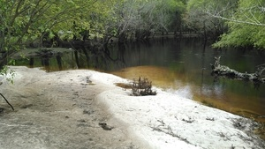 Withlacoochee River sand bar at boat ramp 30.8876972, -83.3238907