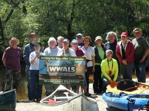 WWALS banner: Not the whole group (some had to go straight home when they got off the river) but we had a great time. Thank you all.