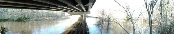 Panorama under the bridge