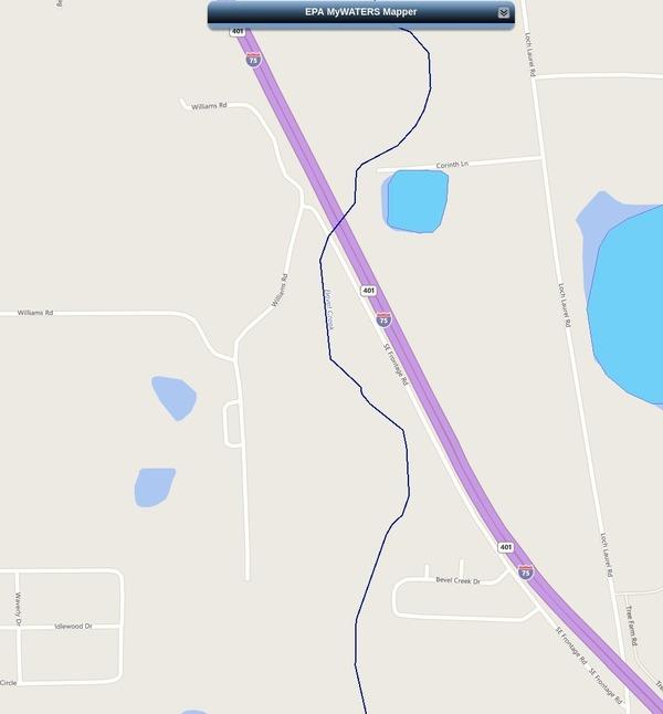 Bevel Creek --EPA MyWaters Mapper