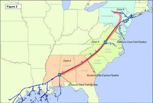 Transco pipeline as fracked methane conduit
