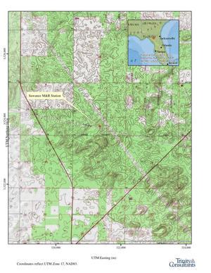 Permit map, Suwannee M&R Station