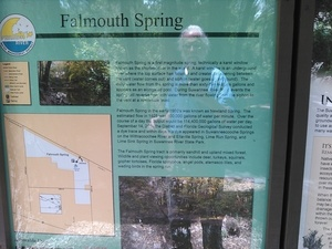 Falmouth Spring kiosk 30.3620873, -83.1345062