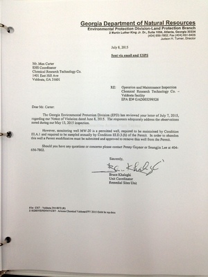 EDP to CRT: Re: Operational and Maintenance Inspection