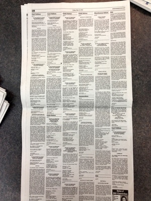 Public Notice in Valdosta Daily Times