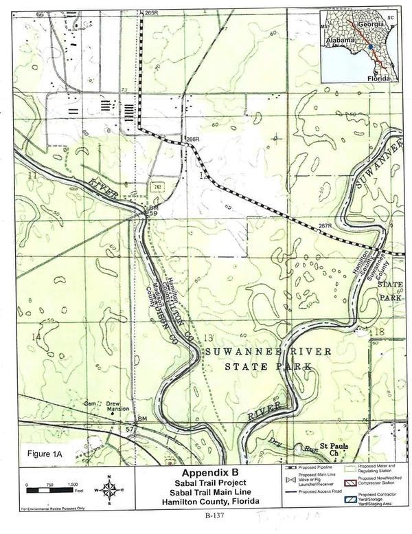 Figure 1A: FEIS Page B-137, Sabal Trail Main Line, Hamilton County, Florida