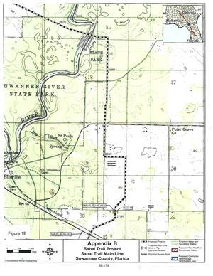 Figure 1B: FEIS Page B-138, Sabal Trail Main Line, Suwannee County, Florida