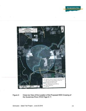 Figure 2: Close-Up View of the Location of the Proposed HDD Crossing of the Suwannee River (FEIS Page E-11)
