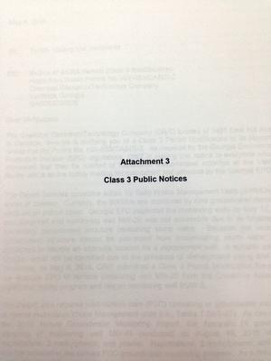 Attachment 3: Class 3 Public Notices