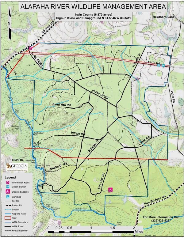 Topo Map: Alapaha River WMA