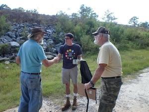 Tony Rowden, Livi, and Jyrell of VSU Students Against Violating the Environment (S.A.V.E.)