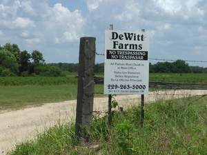 DeWitt Farms, No Trespassing, 31.0278320, -83.4811859