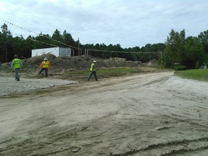 Pipeline truck in trouble on dirt Martin Ln., 30.7873760, -83.4456530