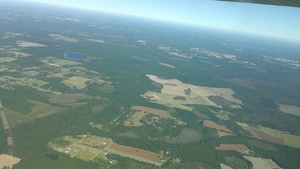 pipeline crosses lower left in picture; Langdale Pond and Kinderlou-Clyattville Road, 30.7507770, -83.3582090
