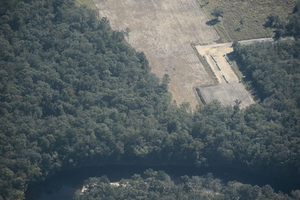 Closeup with blue pipe, Suwannee River HDD, 30.4069760, -83.1547500
