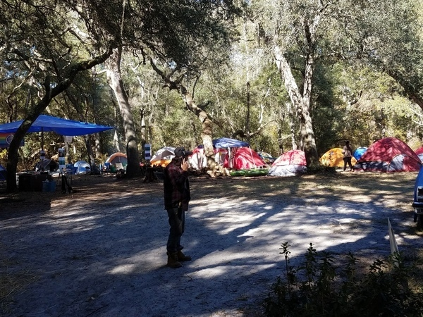 Gregory Payne and many tents