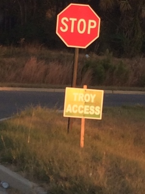 Troy Access with Stop sign