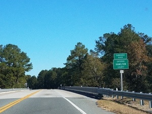 Suwannee River Entering Hamilton County