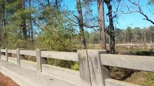 Red pipe, Okapilco Creek Middle Bridge, Sabal Trail, 30.9174160, -83.5892520